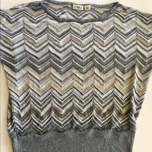 CATO neutral shimmery sweater